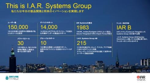 IAR Systemsのグローバルでの事業概要