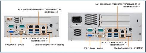 「AR2100モデル120N」(左)と「AR2200モデル120N」(右)のインタフェースパネル