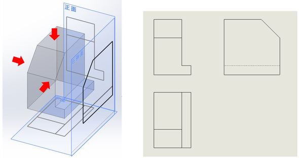 第一角法/第一角法の2D図面