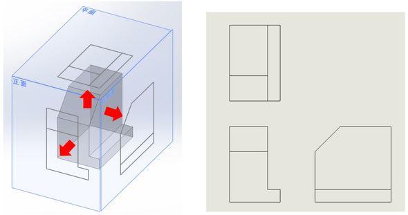 第三角法/第三角法の2D図面