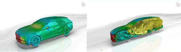 自動車の空力解析