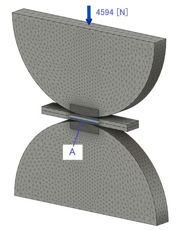 接触面圧を求める解析モデル