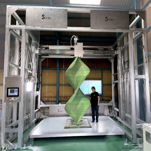 エス.ラボが開発した超大型3Dプリンタ「茶室」(開発名)