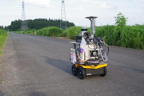福島県大熊町での実地走行テストの様子