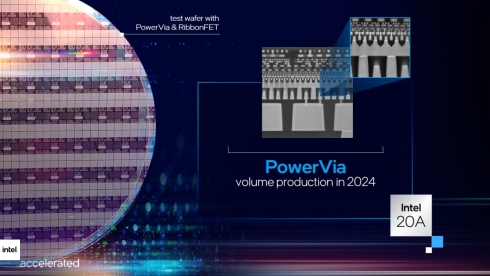 裏面から電源を供給する「PowerVia」の構造