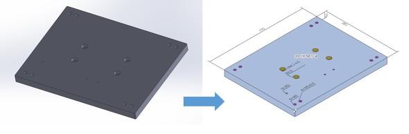 「SOLIDWORKS」で作成した3Dモデルを「meviy」にアップロードした場合