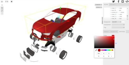 3D CADやCGソフトで作成した3Dモデルを、Webブラウザ上で閲覧/管理/AR化できるソフトウェア「NEXT CG VIEWER」