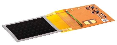 有機薄膜太陽電池とフレキシブル電源基板との接続例
