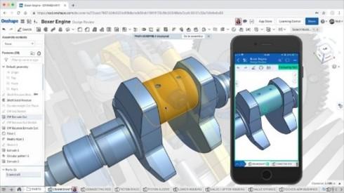 SaaS型製品開発プラットフォーム「Onshape」のイメージ