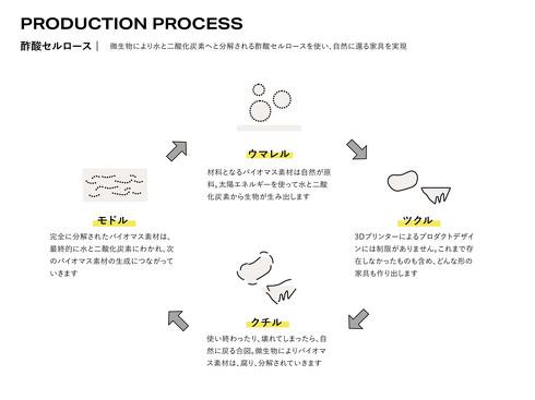 酢酸セルロースによる循環図