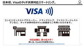 Visaのタッチ決済に対応していれば利用可能だ