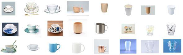 さまざまなカップ