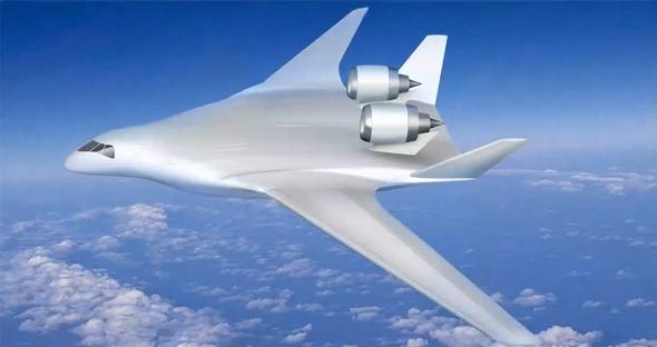 JAXAが提案するBWB機のコンセプト図