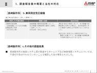 長崎製作所で判明した品質不正の概要