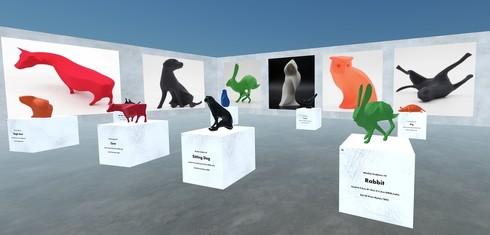 バーチャルギャラリー「POP-UP 3D」のイメージ