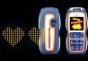 空中にメッセージが浮かび上がる「Nokia3220」