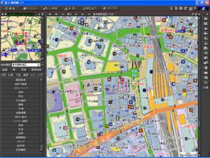 無線LANスポットも表示する地図...