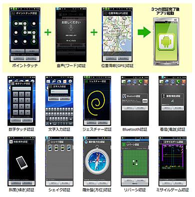 CGENE、13種類の認証方式でアプリをロックする「Android厳選アプリ スマートフォンロック」