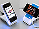 充電とデータ転送が可能な「4ポートハブ付スマホ&iPhone対応モバイルスタンド」