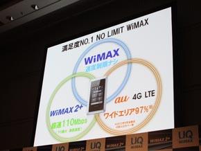 WiMAX 2+は3種類のサービスをシームレスに使用可能