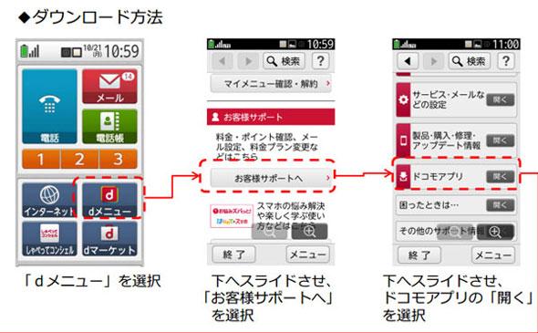 らくらく スマートフォン アプリ