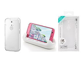 cb1f2e475b 左から、ケースを付けたまま専用宅ホルダーで充電できる「ハードケース for SoftBank 301F」、マット加工を施した「ソフトケース for SoftBank  301F」