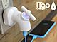 蛇口をひねってスマホの充電をオン/オフできる、「iTap USB-AC充電アダプタ」