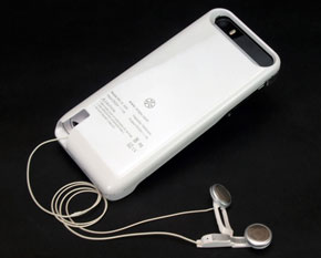 Built-in Earphone Smart Battery Case for iPhone5s/5