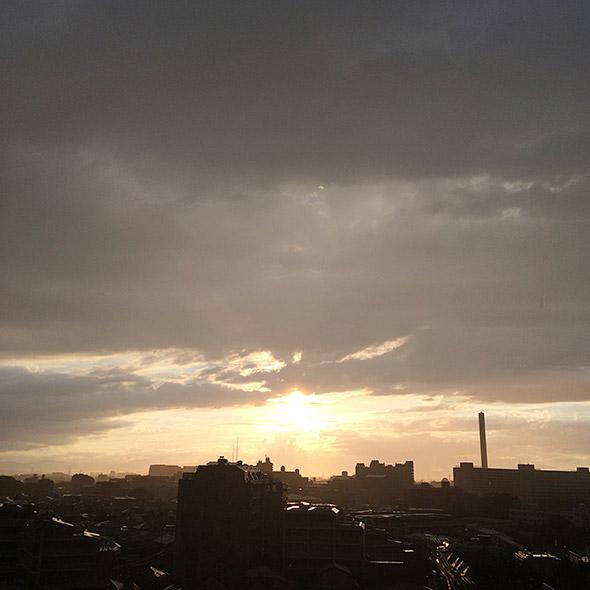 カメラ任せで撮った夕焼け