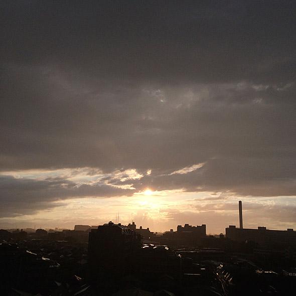 HDRで撮影した夕焼け