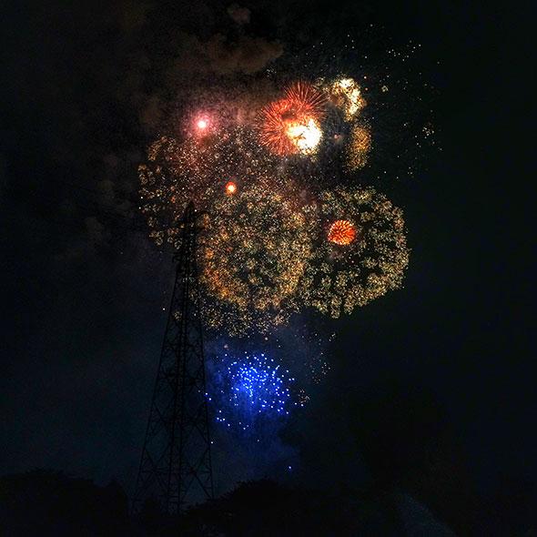 iPhoneで花火
