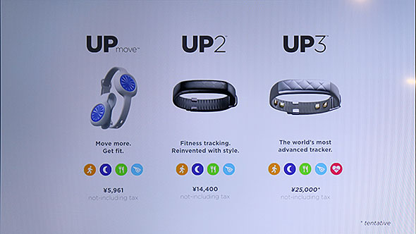 Jawbone UP2 and UP3