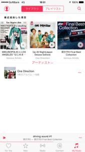 ダウンロードした曲は「My Music」にて表示できます
