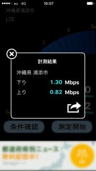 通信速度を計測