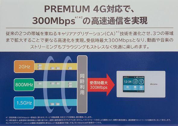 ドコモのPREMIUM 4Gの通信速度
