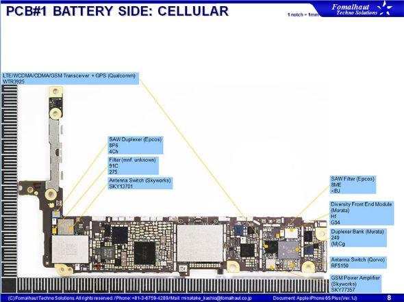 iPhone 6s Plusのメイン基板