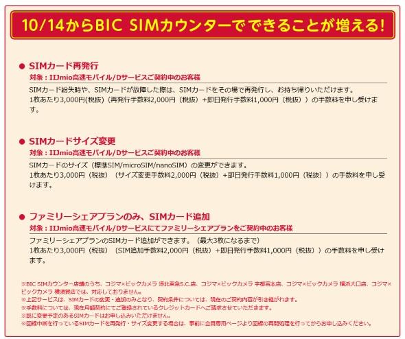 IIJの「BIC SIMカウンター」拡充内容