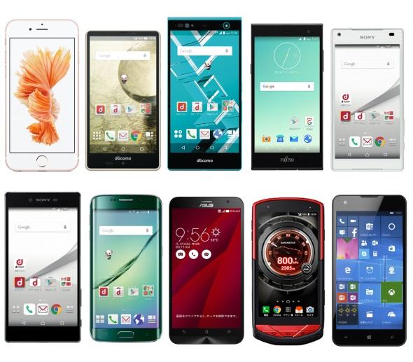 スマートフォン・オブ・ザ・イヤー2015のノミネート端末