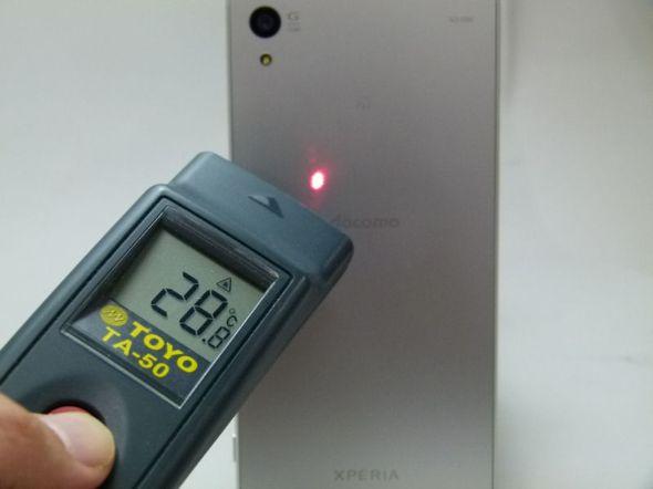 「Xperia Z5」の発熱をチェック