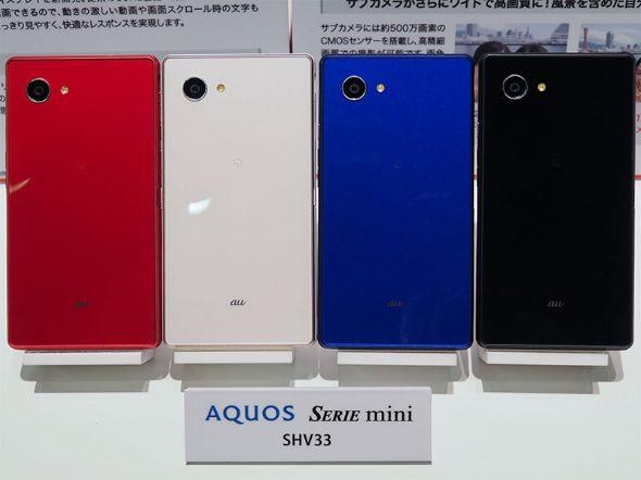 「AQUOS SERIE mini SHV33」