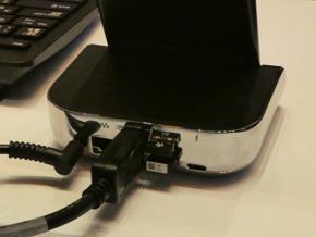 HP デスクドック(背面)