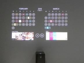 Xperia Projector(ファミリーカレンダー)