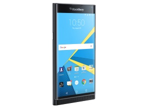 BlackBerry PRIVの正面(キーボードを閉じた状態)