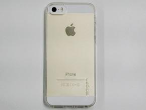 リキッド・アーマーを装着したiPhone 5s(裏面)