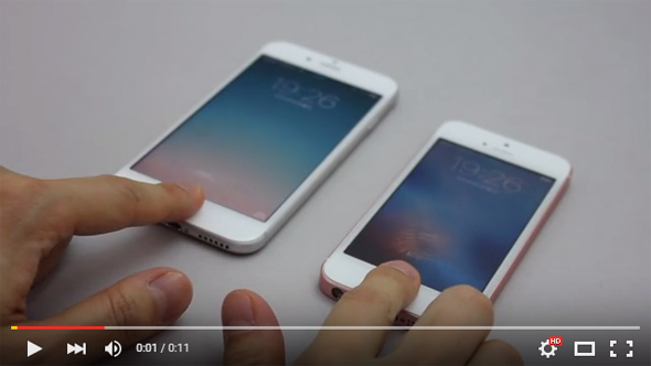 iPhone SEとiPhone 6sのTouch ID