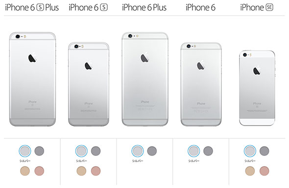 iPhone 6s/6s PlusとSE