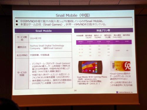 中国のSnail Mobileなど国によって多様なMVNOが存在する