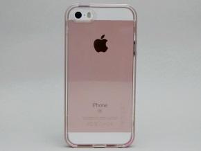 ネオ・ハイブリッド クリスタルを取り付けたiPhone SE(背面)