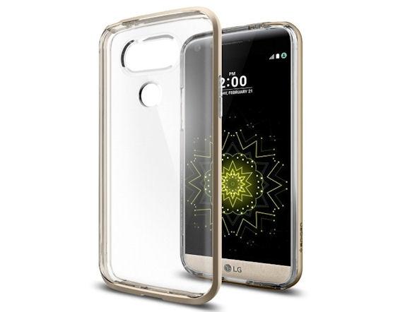 LG G5用「ネオ・ハイブリッド クリスタル」(シャンパン・ゴールド)