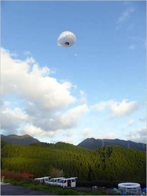ソフトバンクの係留気球無線中継システム
